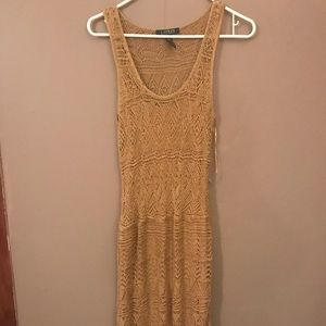 Long knit dress with slip